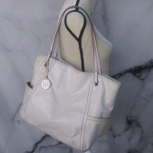 Relic Cream Colored Multi-Pocket Shoulder Bag